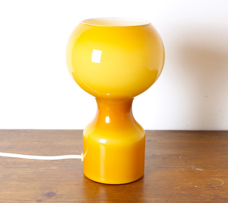 Vintage Orange Glass Table Lamp