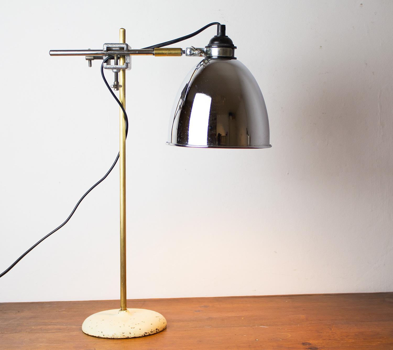Chrome Industrial Desk Lamp