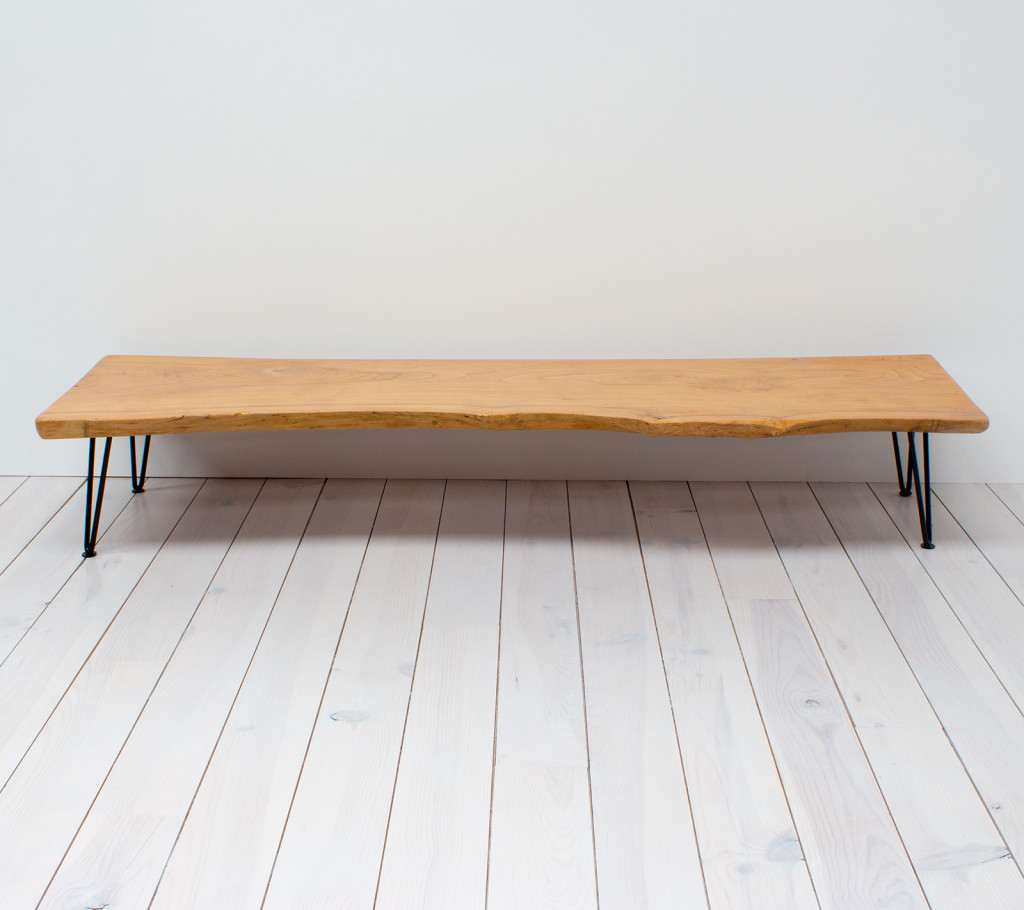 Elm Coffee Table/Bench with Hairpin Legs