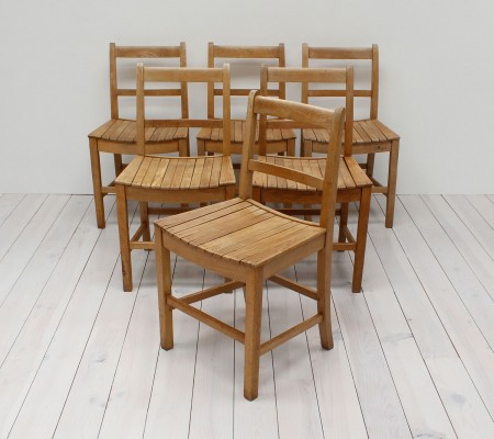 Industrial Oak Utility Dining Chairs