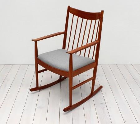 Arne Vodder for Sibast Teak Rocking Chair