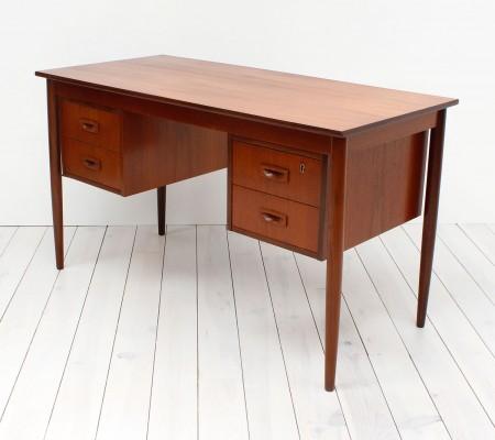 Danish Teak Twin Pedestal Desk