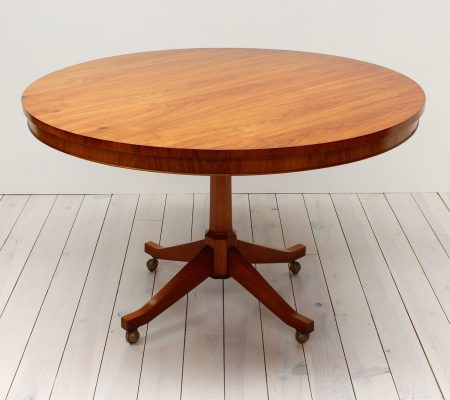 Danish Teak Round Pedestal Dining Table