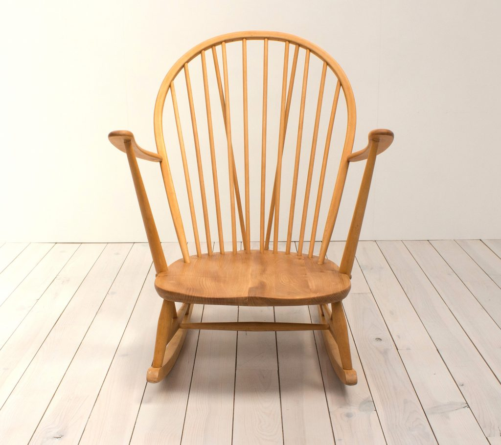 Ercol Windsor Grandfather Blonde Rocking Chair Arc Furniture