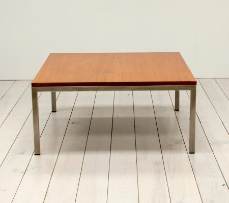Teak & Stainless Steel Square Coffee Table