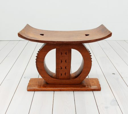 Ashanti African Carved Wooden Stool