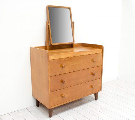 Modernist gordon russell oak dressing table arc for Dressing table 85cm