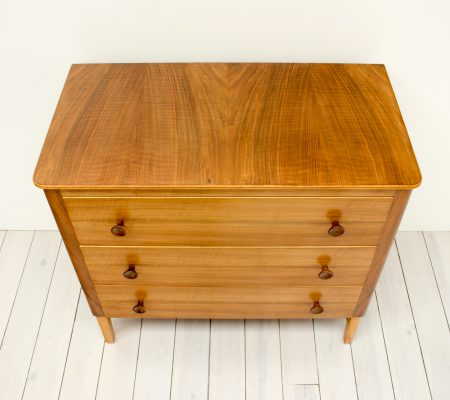 Gordon Russell For Heals Walnut Chest Of Drawers Arc