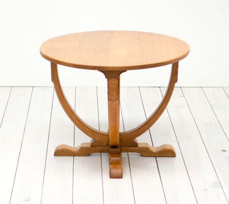 English Art Deco Oak Side Table