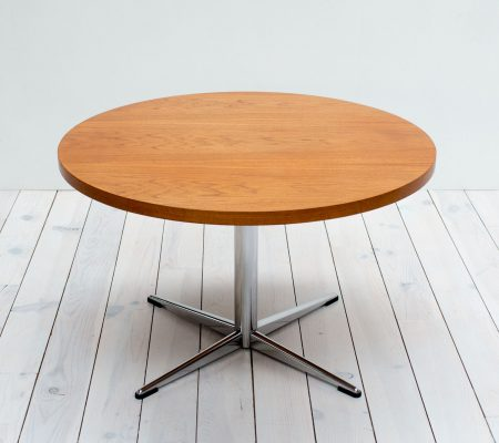 Mid Century Teak & Chrome Coffee Table