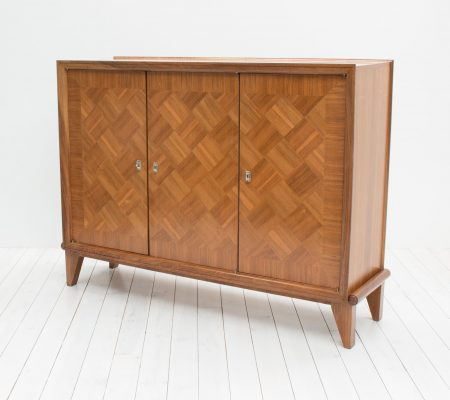French Art Deco Linen Cabinet