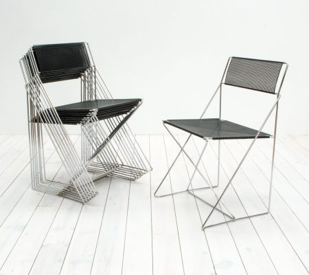 X Line Stacking Chairs by Niels Jørgen Haugesen for Hybodan