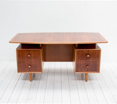 1950s Rosewood & Mahogany Desk by Christopher Heal