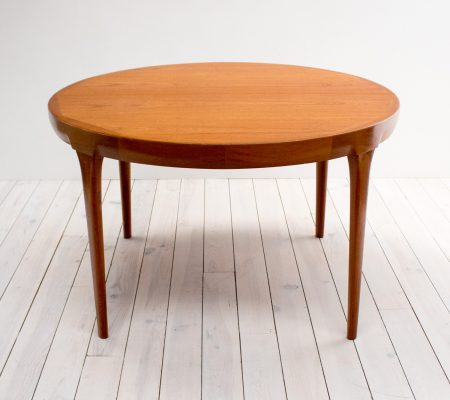 Danish Teak Extending Dining Table for Faarup