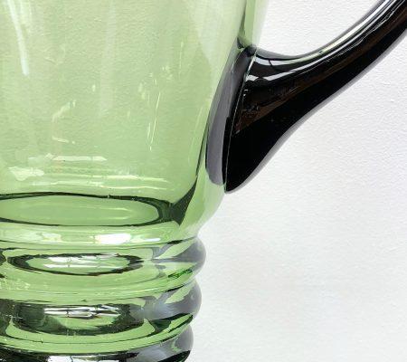 Art Deco Green Glass Jug