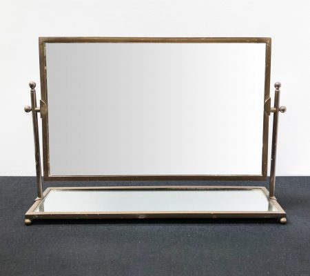 Art Deco Brass Dressing Table Mirror