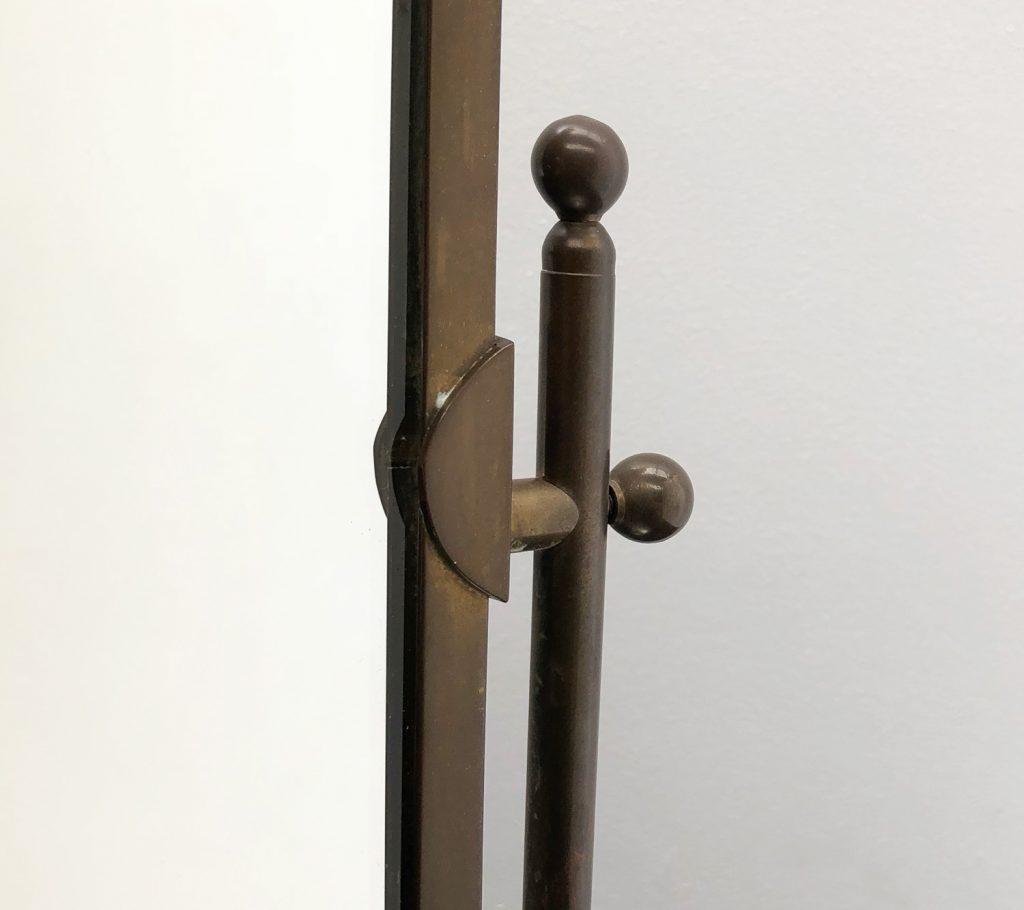 Art Deco Brass Dressing Table Mirror