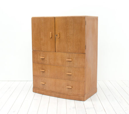 Art Deco Oak Tallboy/Cabinet