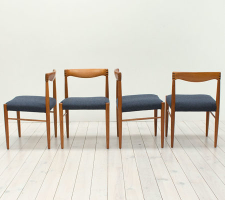 Danish Teak Dining Chairs by H. W. Klein for Bramin