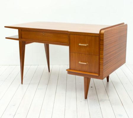 1950s Italian Teak & Sapele Desk