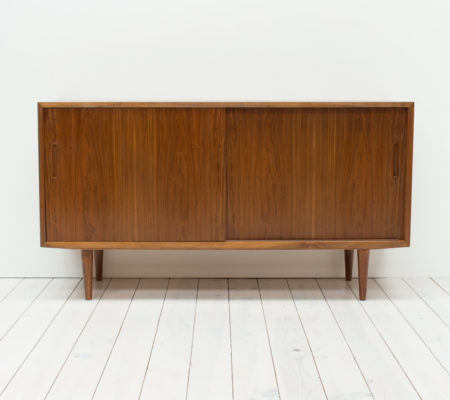 Danish Walnut Sideboard/Record Cabinet by Poul Hundevad