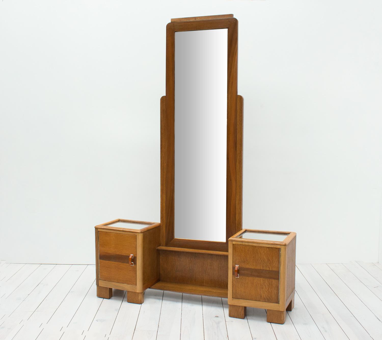 Art Deco Cheval/Hall Mirror