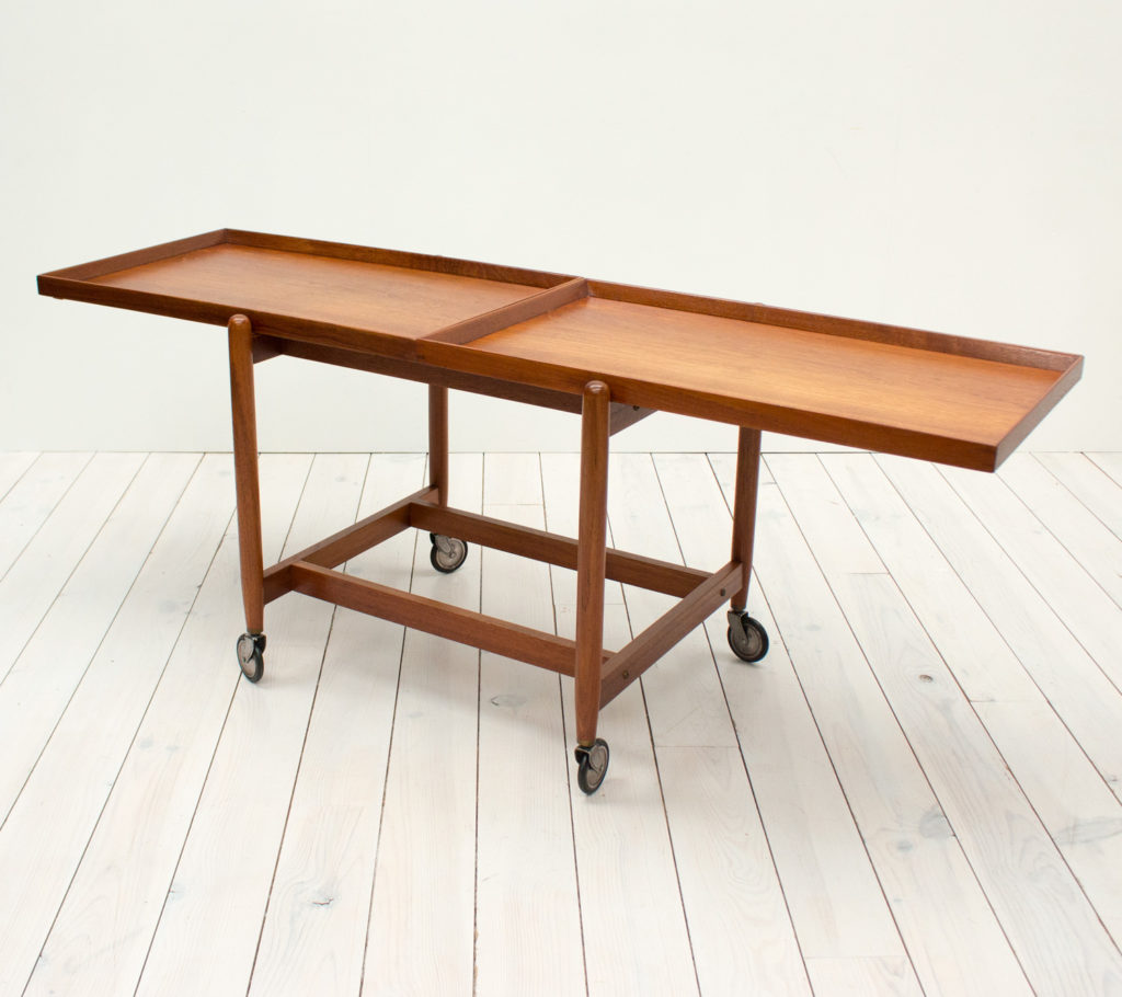 Danish Teak Drinks/Serving Trolley by Poul Hundevad