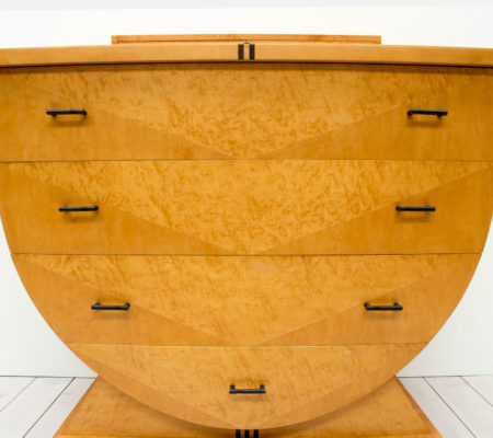 Art Deco Design Maple Chest of Drawers by Roche Bobois