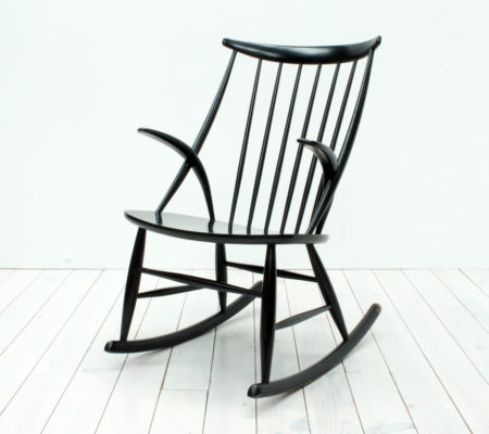 Danish Rocking Chair by Illum Wikkelsø for Niels Eilersen