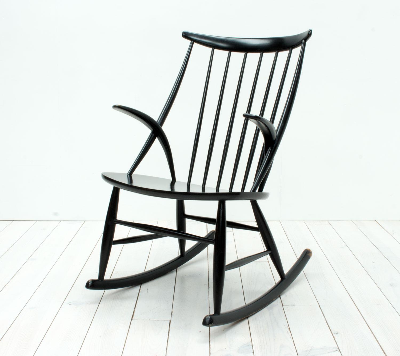 Danish Rocking Chair by Illum Wikkelsø for Niels Eilersen