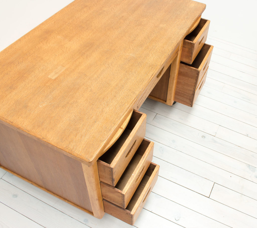 Modernist Art Deco Oak Desk
