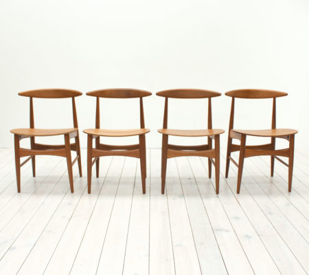 Danish Teak Dining Chairs by Mogens Kold