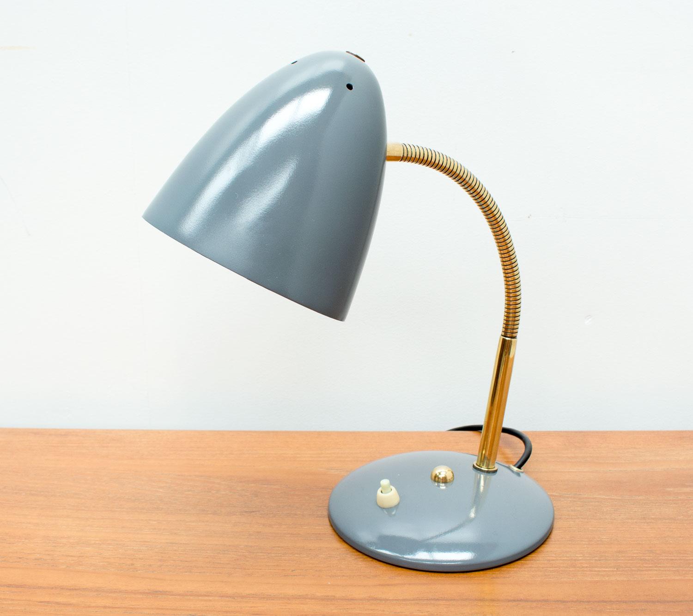 German Grey Desk Lamp by Helo Leuchten