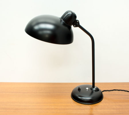 1950s German Black Desk Lamp by Helo Leuchten