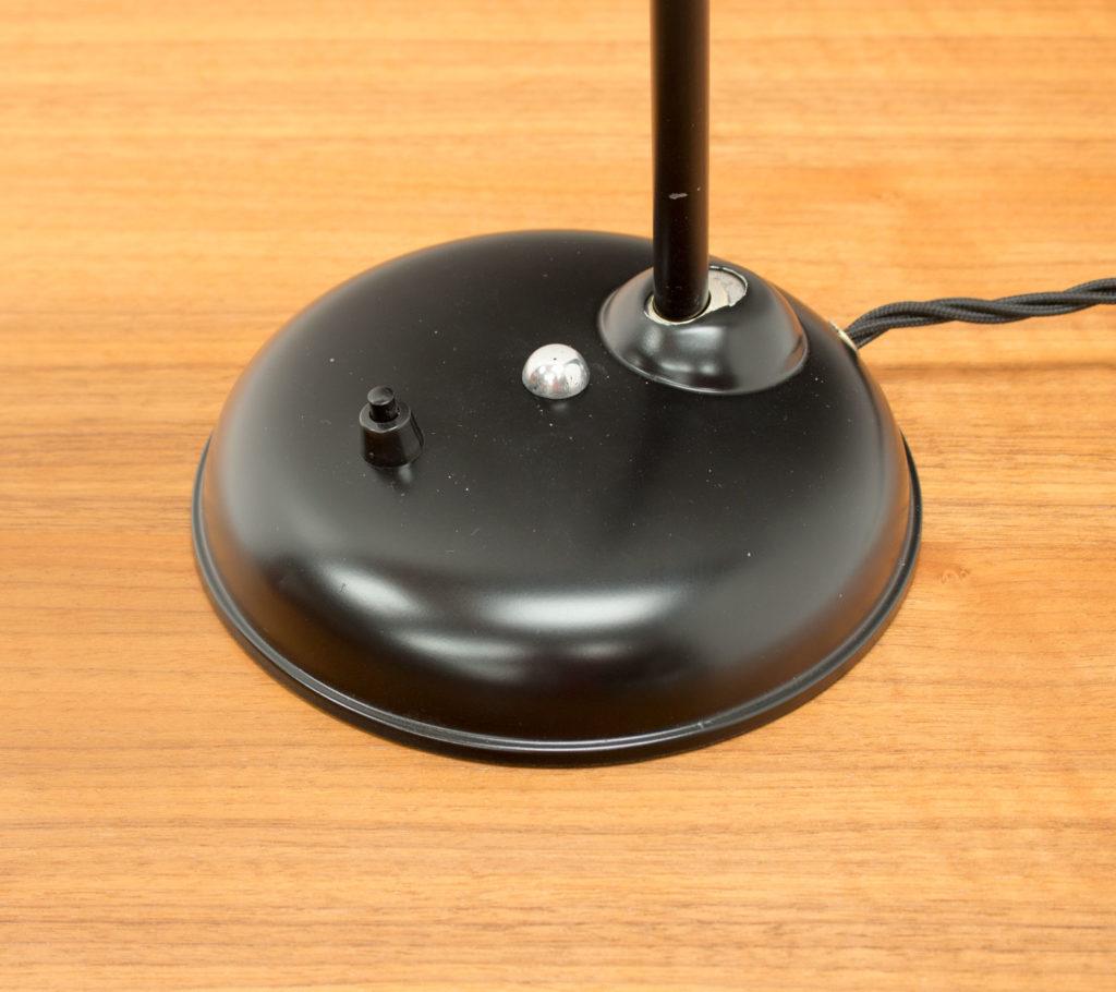 1950s German Black Desk Lamp by Helo Leuchten