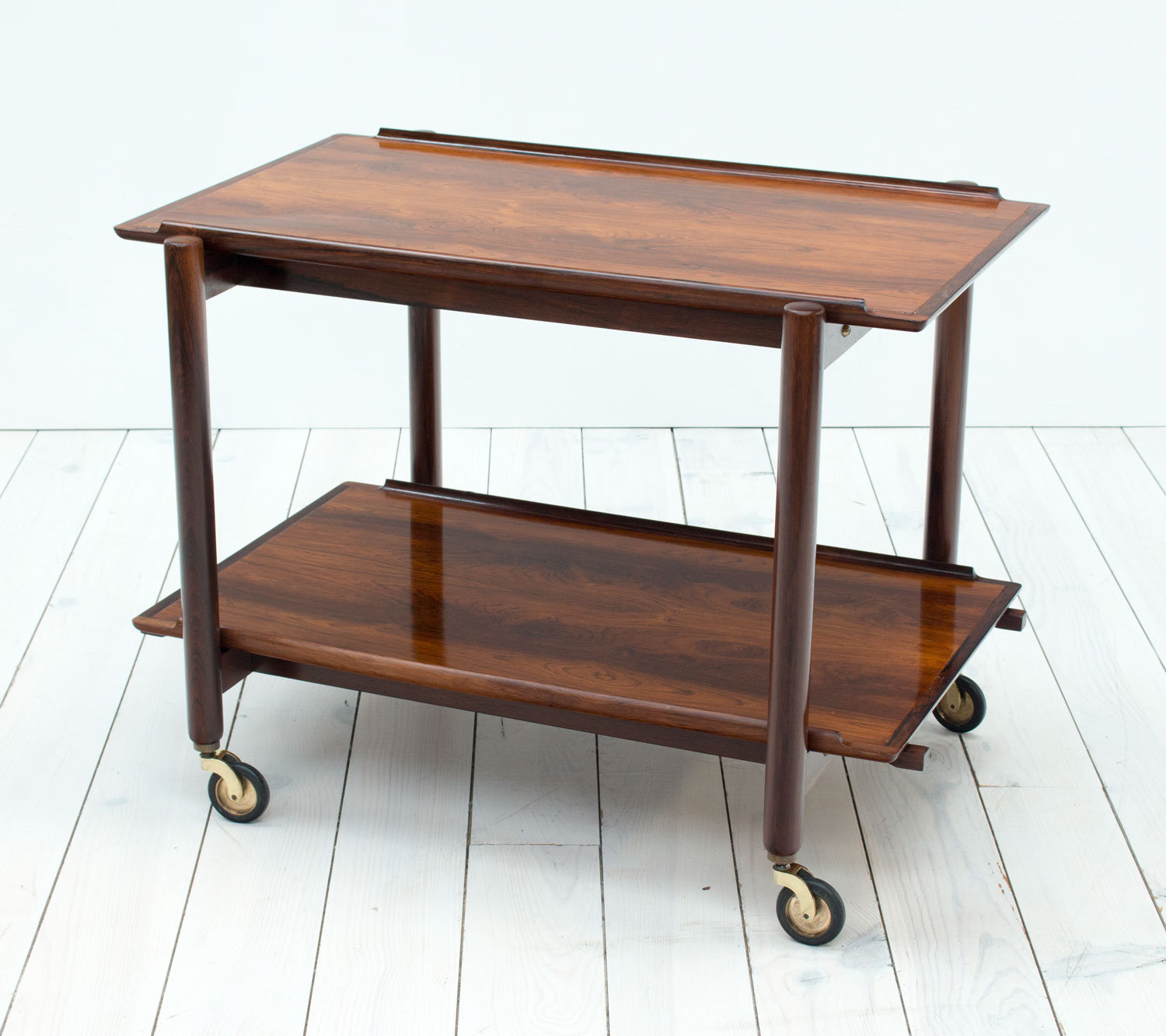 Danish Rosewood Drinks/Serving Trolley by Poul Hundevad