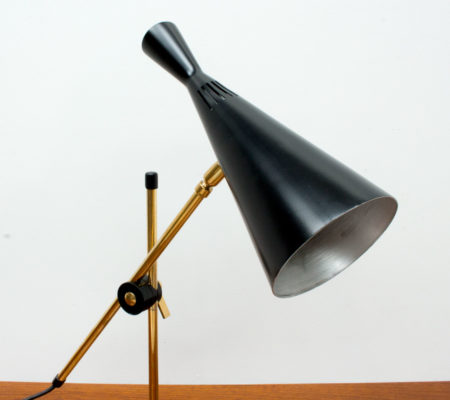 G A Scott Black Desk Lamp by Maclamp