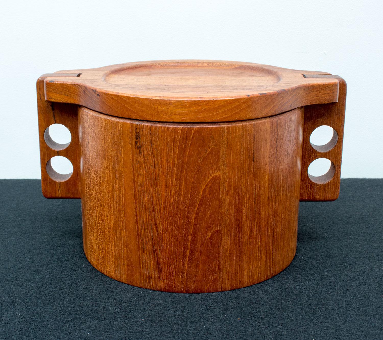 Danish Teak Ice Bucket by Birgit Krogh for Woodline