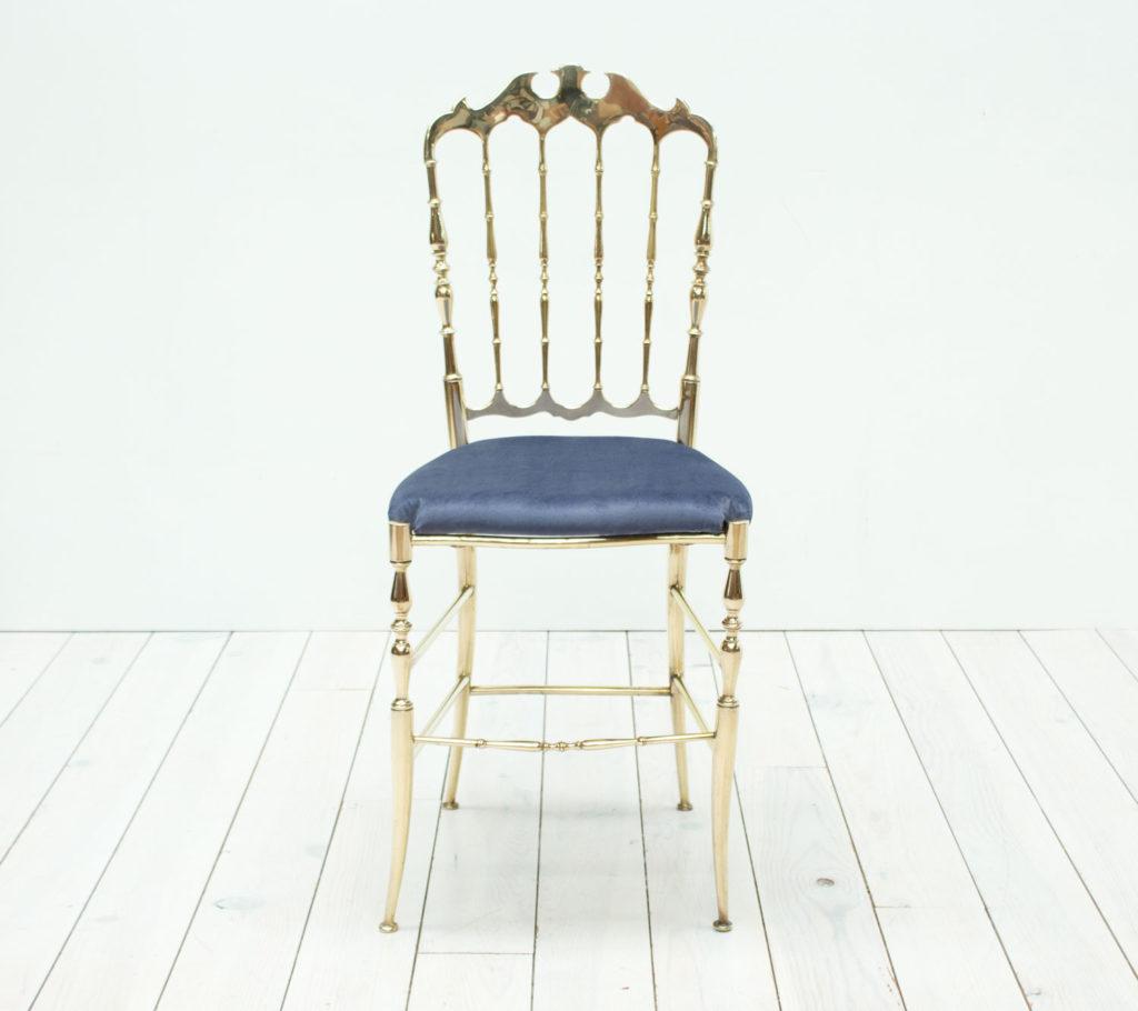 Mid Century Italian Chiavari Brass Chair