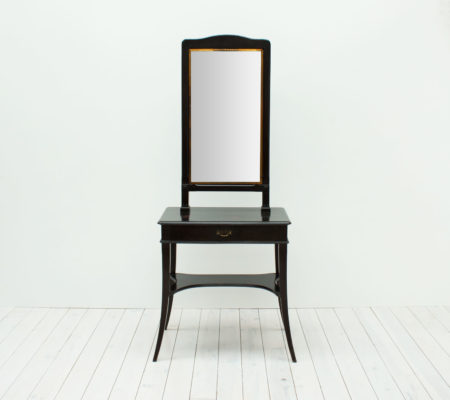 French Antique Triptych Mirror Dressing Table by Brot