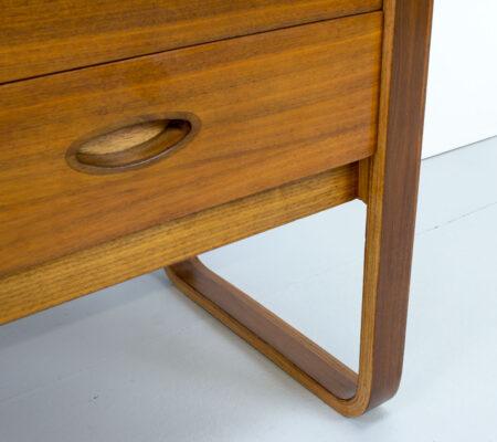 Uniflex Walnut Dressing Table by Gunther Hoffstead