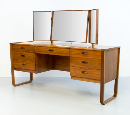 Uniflex Walnut Dressing Table by Gunther Hoffstead