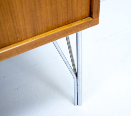 1960s Danish Teak Tambour Sideboard by Heinrich Roepstorff