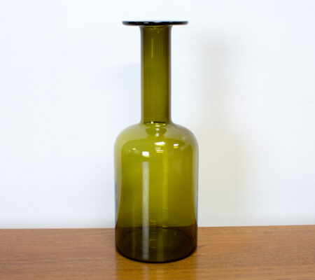 Danish Green Gulvvase by Otto Brauer for by Holmegaard