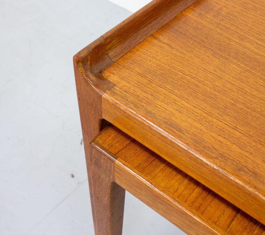 Danish Teak Nest of Tables by Kurt Østervig for Jason Mobler