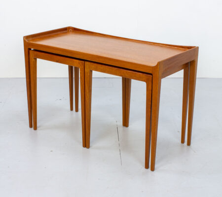 Danish Teak Nest of Tables by Kurt Østervig for Jason Mobler