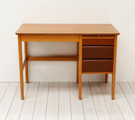 Vintage Small Teak and Beech School Desk