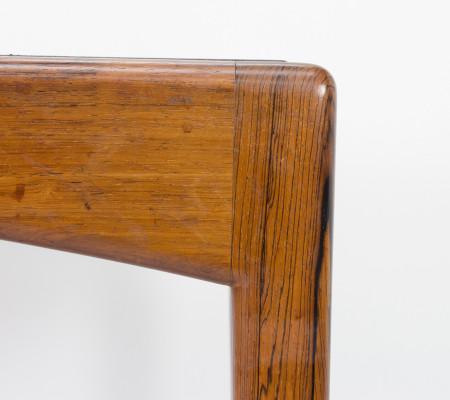 Soren Willadsen Rosewood and Black Leather Table