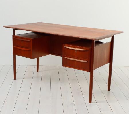 Danish Teak Desk by Tibergaard