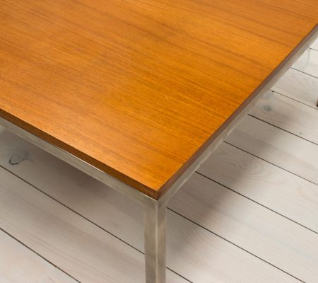 Teak & Stainless Steel Square Coffee Table